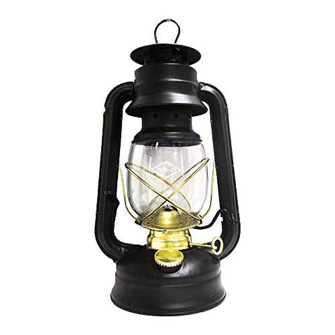 Glo Brite by 21st Century 210-76000 Centennial Gold Trim Oil Lantern, Black