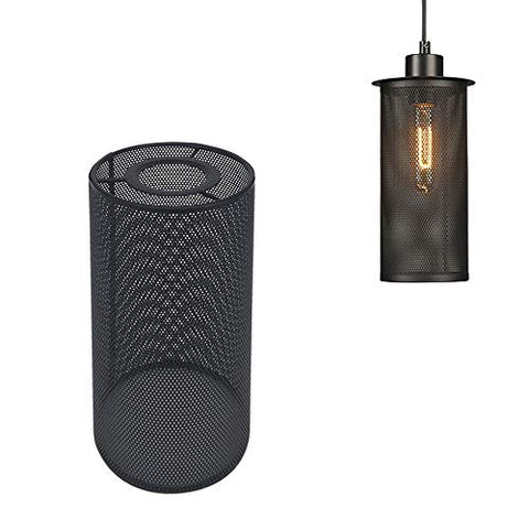 STGLIGHTING Industrial Vintage Black Metal Bulb Guard Iron Mesh Fixture Replacement Hanging Ceiling Pendant Light Holder Decorative Lamp Shade (Light Socket Not Included) - llightsdaddy - STGLIGHTING - Fixture Replacement Globes & Shades