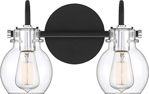 "Quoizel ANW8602EK Andrews Vanity Bath Lighting, 2-Light, 200 Watts, Earth Black (9""H x 14""W)"