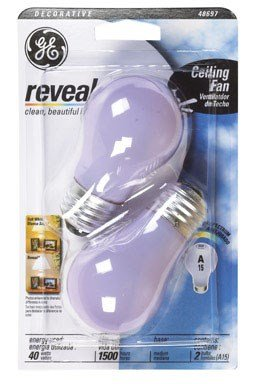 Ge Reveal Ceiling Fan Light Bulb 40 W 260 Lumens A15 Med Base Frosted 2550 K Pack / 2