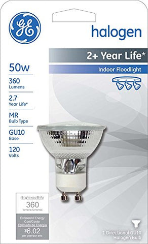 G E Lighting #16751 GE50W Quartz Halo FLDLight - llightsdaddy - GE - Halogen Bulbs