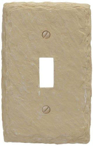 Amerelle Faux Slate Single Toggle Resin Wallplate in Almond - llightsdaddy - Classic Accents - Wall Plates