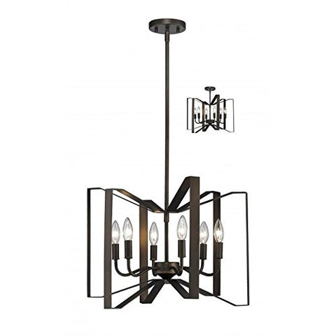 6 Light Pendant 4000P-BRZ - llightsdaddy - Z-Lite - Pendant Lights