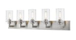 Savannah 5 Light 39 inch Brushed Nickel Vanity Wall Light