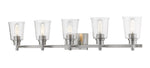 5 Light Vanity, Clear Seedy, Glass Shade, Brushed Nickel  Frame - llightsdaddy - Z-Lite - Vanity Lights