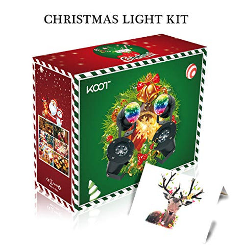 Koot Christmas Light Decoration Set, 6-Piece Holiday Light Kit Gift Set With Snowflake Projectors, String Lights, Disco Ball Lights For Halloween Thanksgiving Outdoor Indoor Decor Party Gather