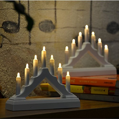 YAKii 7 LED Lights Battery Operated LED Arch Candle Bridge, LED Window Candle for Christmas Decoration, Set of 2 - llightsdaddy - YAKii - Flameless Candles
