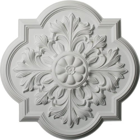 "Ekena Millwork CM20BO Bonetti Ceiling Medallion, 20""OD x 1 3/4""P (Fits Canopies up to 5 1/8""), Factory Primed"