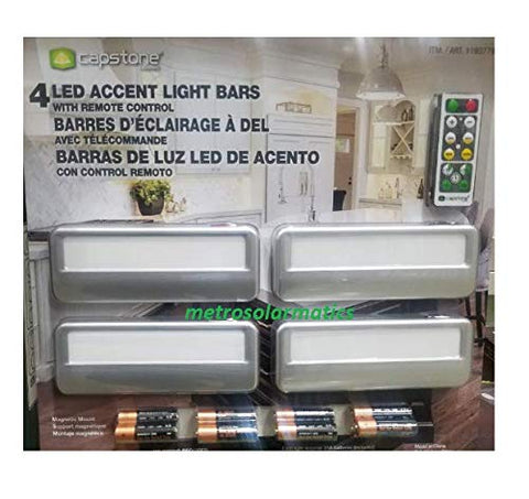 Capstone 4 LED Accent Light Bars with Remote control Battery operated