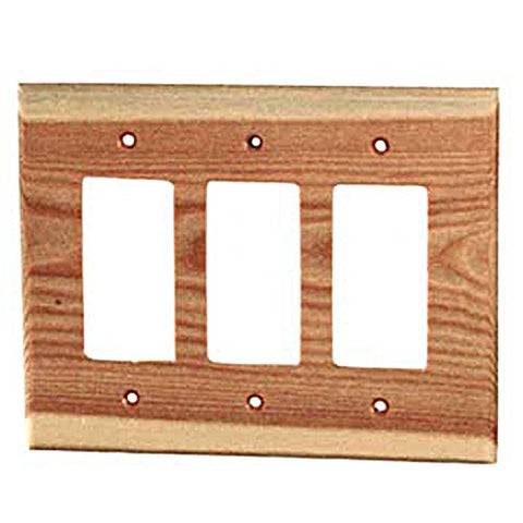 Sierra Lifestyles Traditional Switch Plate, 3 Rocker, Douglas Fir - llightsdaddy - Sierra Lifestyles - Wall Plates