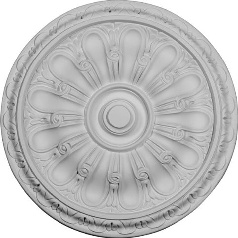 "Ekena Millwork CM16KI Kirke Ceiling Medallion, 15 3/4""OD x 5/8""P (Fits Canopies up to 3 3/4""), Factory Primed"