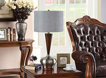 L252 Set Of Two Table Lamps - Walnut; Brushed Nickel; Silver