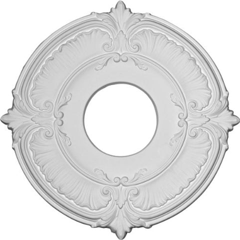 "Ekena Millwork CM12AT Attica Ceiling Medallion, 12 3/4""OD x 3 1/2""ID x 1/2""P (Fits Canopies up to 3 1/2""), Factory Primed"