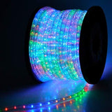 Wyzworks 150' Feet Multi-Rgb Led Rope Lights - Flexible 2 Wire Accent