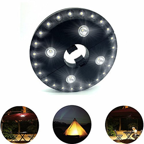 AIDOUT Patio Umbrella Lights - 28 LED Night Light 400 Lumens Umbrella Lights Battery Operated Umbrella Pole Light Outdoor Lighting - 3 Lighting Mode for Patio Umbrellas, Outdoor Use or Camping Tents - llightsdaddy - AIDOUT - Umbrella Lights