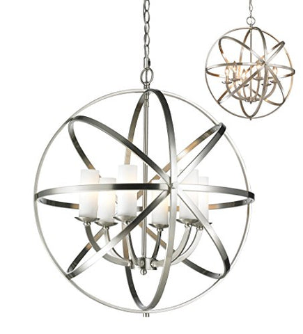 6 Light Pendant 6017-6L-BN - llightsdaddy - Z-Lite - Pendant Lights