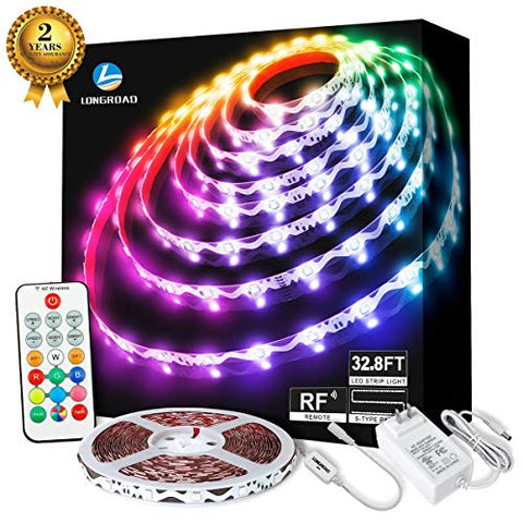 Led Strip Lights, 32.8Ft(10M)Rgb Led Strip Lights With Remote, 24V Rope Led Light Strip Color Changing Led Light Strip For Bedroom Home Lighting, Rgb Led Strip Lights For Room Bar Home Decoration