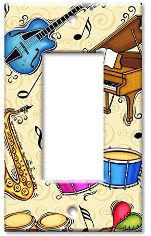 Single Gang Rocker Wall Plate - Musical Instruments - llightsdaddy - Art Plates - Wall Plates