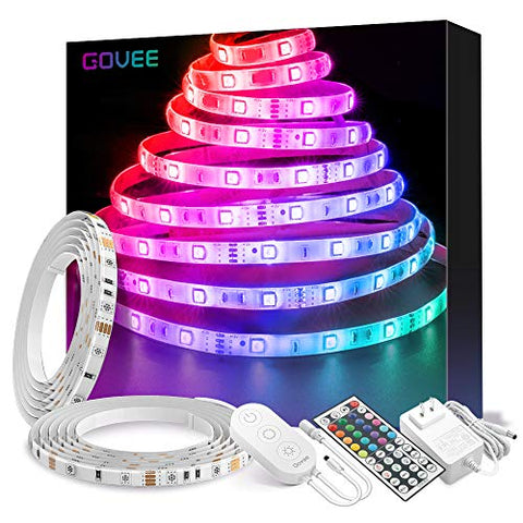 Govee Led Strip Lights 32.8Ft Waterproof Color Changing Light Strips With Remote, Bright 5050 And Multicolor Rgb Led Lights For Room, Bedroom, Kitchen, Yard, Party, Christmas