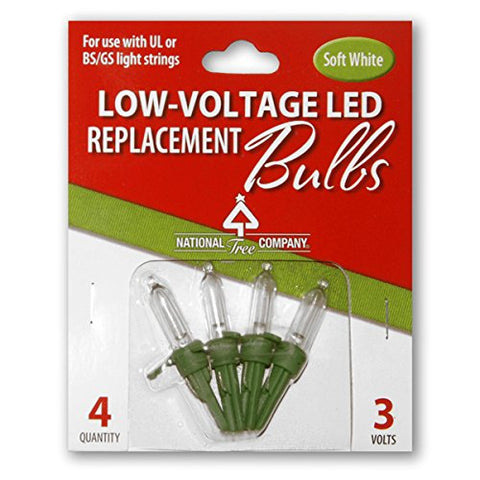 National Tree 4 Low Voltage Dual Led Replacement Bulbs In Warm White (Rb-4Lvsw)