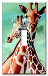 Single Gang Toggle Wall Plate - Giraffes - llightsdaddy - Art Plates - Wall Plates