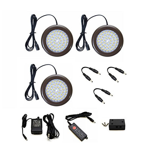 Lightkiwi C9203 35 inch Cool White LED Puck Lights - Premium Kit (3 Pack)