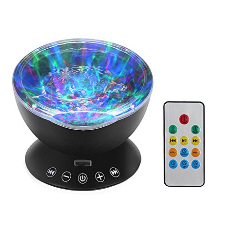 StarLight Ocean Wave Night Light Projector and Speaker with Seven Light Modes and Remote Control - llightsdaddy - StarLight - Night Lights