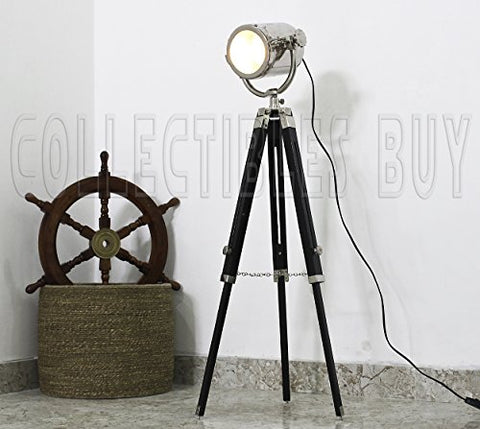 Black Triopd Floor Lamps 42 Inches Modern Decorative Lighting for Home & Office