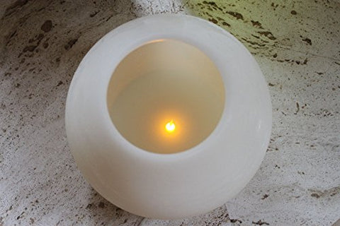 EcoGecko 6 Inches Wax MoonSphere LED Flameless Candle with 5 Hour Timer (87002) - llightsdaddy - Unilution Inc. - Flameless Candles