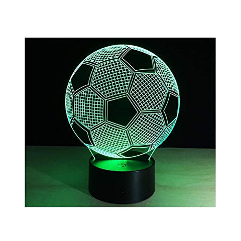 3D optical illusion lamp Sport football Soccer Bedroom decorative night 7 color change USB Touch button LED desk table light lamp
