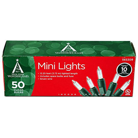 Noma/Inliten 50-Count Clear Christmas Light Set (2)  Noma/Inliten Indoor String Lights llightsdaddy.myshopify.com lightsdaddy