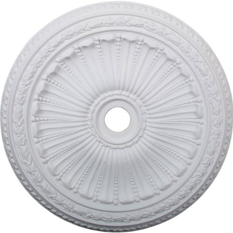 "Ekena Millwork CM35VI Viceroy Ceiling Medallion, 35 1/8""OD x 4 7/8""ID x 2 1/2""P (Fits Canopies up to 4 7/8""), Factory Primed"