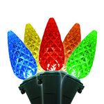 Brite Star 80 Count Led-C6 Faceted Light Set With Green Wire, Multicolor