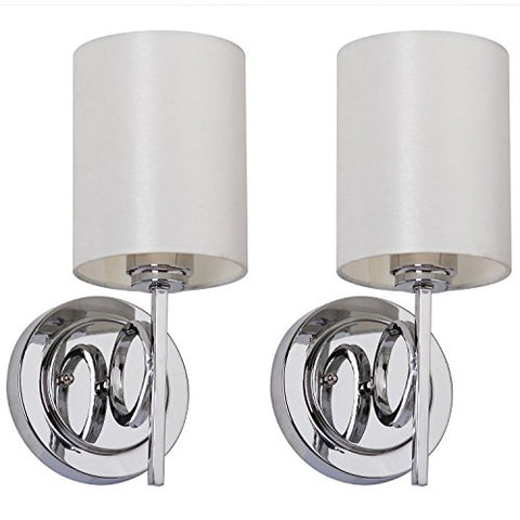 Safavieh Lighting Collection Ventura Chrome 13.1-inch Wall Sconce (Set of 2)