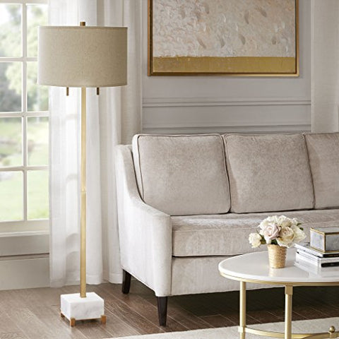 Madison Park Leyton Floor Lamp White/Gold See Below - llightsdaddy - Madison Park - Lamp Shades