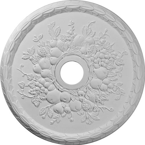 "Ekena Millwork CM22GR Grape Ceiling Medallion, 22 5/8""OD x 3 5/8""ID x 5/8""P (Fits Canopies up to 3 5/8""), Factory Primed"
