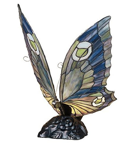 "Meyda Tiffany 48017 Butterfly Accent Lamp, 15"" Height - llightsdaddy - Meyda Tiffany - Billiard & Pool Table Lights"