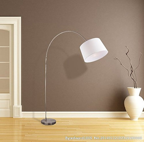 Merax Comtemporary Arc Floor Lamp Bedroom Reading Room Lamp ,Nickel