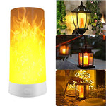 LED Flameless Candles Effect Magnetic Light, USB Rechargeable Flickering Flame Candle Bulb Lamp Lantern LED Magnetic Light (Flame) - llightsdaddy - Nice Dream - Flameless Candles