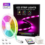Myplus Led Strip Lights, 16.4Ft Waterproof Light Strip With Remote Color Changing, Safety 12V Power Supply Smd 5050 Rgb Tape Light For Room, Home, Bar, Christmas Decor