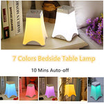 Touch Lamps Bedside Table Lamp with 10 Mins Anto Off Function for Adults, 7 Colours Night Lights for Kids, Eye Caring Rechargeable LED Reading Light - llightsdaddy - Kisshome - Book Lights