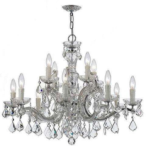 Crystorama-4379-CH-CL-MWP-Crystal-12-Light-Chandelier-from-Maria-Theresa-collection-in-Chrome,-Pol.-Nckl.finish,