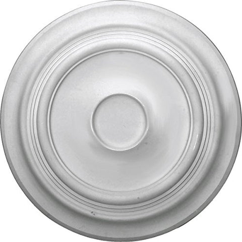 "Ekena Millwork CM24TR Traditional Ceiling Medallion, 24 3/8""OD x 1 1/2""P (Fits Canopies up to 5 1/2""), Factory Primed"