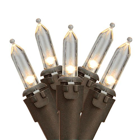 Northlight 100 White LED Mini Christmas Lights 4€ufffd Spacing - Brown Wire  Northlight Indoor String Lights llightsdaddy.myshopify.com lightsdaddy