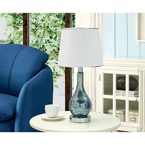 L319 Set Of Two Table Lamps - Blue; White