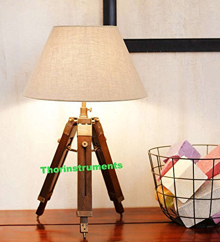 Vintage Tripod Table Adjustable Lamp Stand Tripod- Home Decor