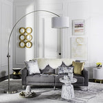 "Safavieh LIT4351A Lighting Collection Ascella 86"" Nickel Arc Floor Lamp - llightsdaddy - Safavieh - Lamp Shades"