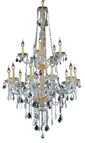 Elegant Lighting Verona 33 15 Light Elements Crystal Chandelier
