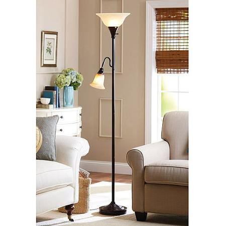 Better Homes and Gardens Floor Lamp Combo, Bronze - llightsdaddy - Better Homes & Gardens - Lamp Shades