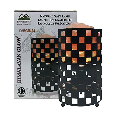 Himalayan Glow 1334 Projective Style Metal Basket Night Light with Pink Chunks, Bulb,(ETL Certified) Dimmer Switch,Calming & Relaxing Salt Lamp